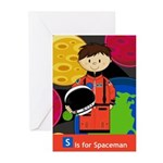 Cute Little Spaceman Greeting Cards (Pk of 10)
