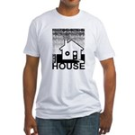 Get in the House Music Fitted T-Shirt