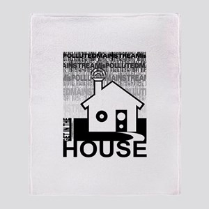 Get in the House Music Throw Blanket