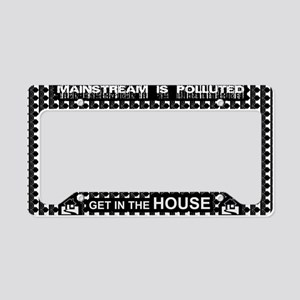 Get in the House Music License Plate Holder