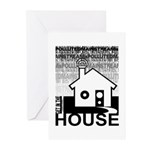 Get in the House Music Greeting Cards (Pk of 10)
