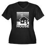 Get in the House Music Women's Plus Size V-Neck Da