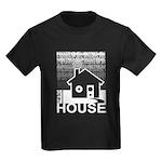 Get in the House Music Kids Dark T-Shirt