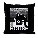Get in the House Music Throw Pillow