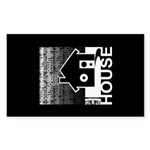 Get in the House Music Sticker (Rectangle)
