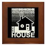 Get in the House Music Framed Tile