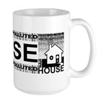 Get in the House Music Large Mug
