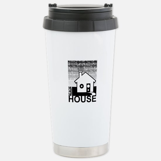 Get in the House Music Stainless Steel Travel Mug