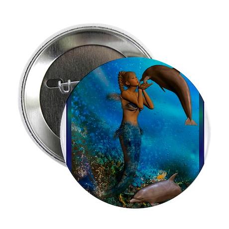 """Best Seller Merrow Mermaid 2.25"""" Button (100 pack)"""