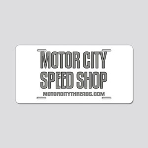 Motor City Speed Shop Aluminum License Plate