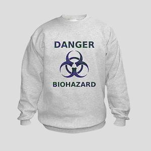 Biohazard Warning Kids Sweatshirt