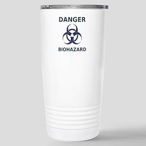Biohazard Warning Stainless Steel Travel Mug