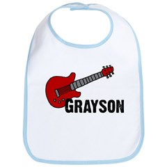 Grayson Guitar Personalized Bib
