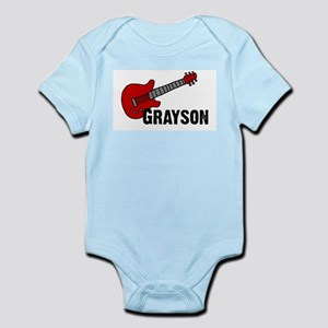 Grayson Guitar Personalized Infant Bodysuit