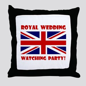 Royal Wedding Watching Party! Throw Pillow