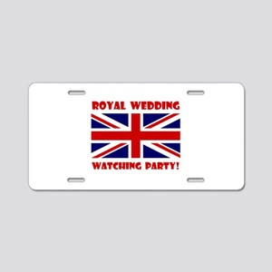 Royal Wedding Watching Party! Aluminum License Pla