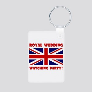 Royal Wedding Watching Party! Aluminum Photo Keych