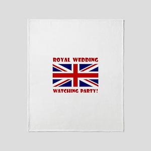 Royal Wedding Watching Party! Throw Blanket