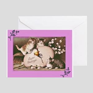 Easter Kittens Greeting Card