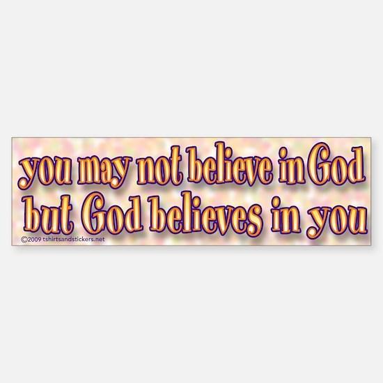 believe in God sticker