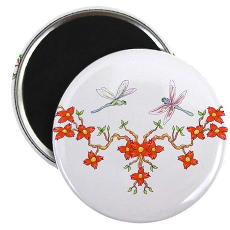 Cherry Blossom Dragonflies Magnet