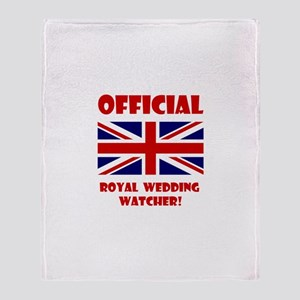 Royal Wedding Watcher Throw Blanket