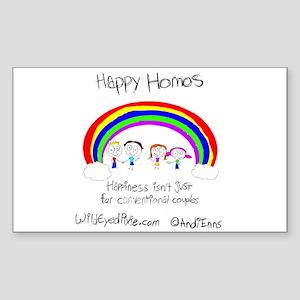 Wild Eyed Pixie - Happy Homo Rectangle Sticker