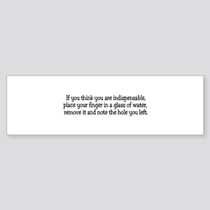 If you think you are indispen Bumper Sticker