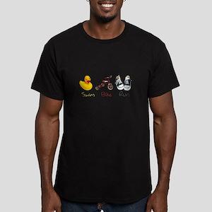 Baby Tri Men's Fitted T-Shirt (dark)