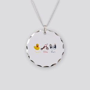 Baby Tri Necklace Circle Charm