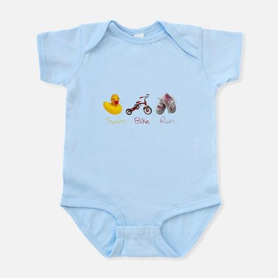 Baby Girl Tri Infant Bodysuit