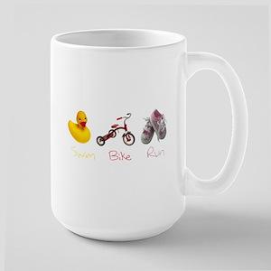 Baby Girl Tri Large Mug
