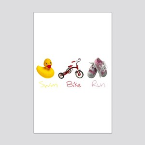 Baby Girl Tri Mini Poster Print