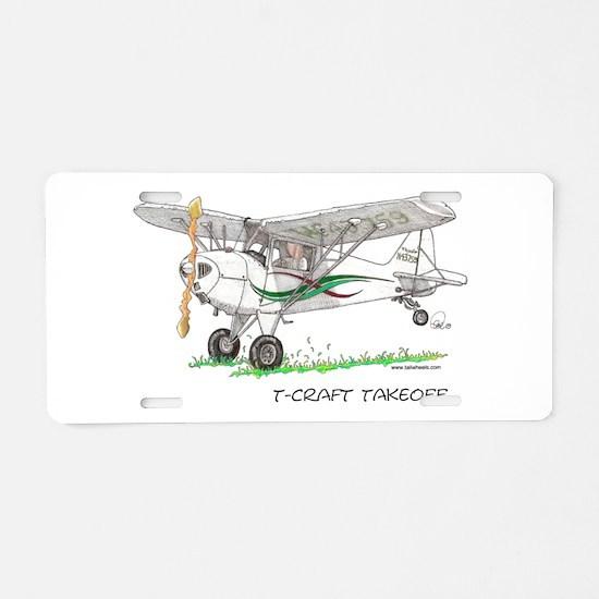 T-Craft Takeoff Aluminum License Plate