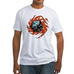 Flaming D20 Fitted T-Shirt