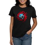 Flaming D20 Classic Black Women's Dark T-Shirt
