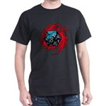 Flaming D20 Classic Black Dark T-Shirt