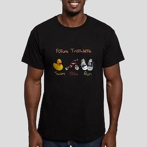 Future Triathlete Men's Fitted T-Shirt (dark)