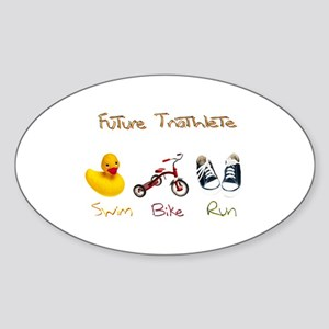 Future Triathlete Sticker (Oval)