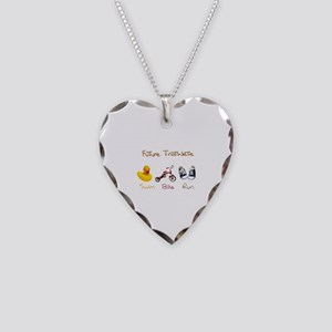 Future Triathlete Necklace Heart Charm