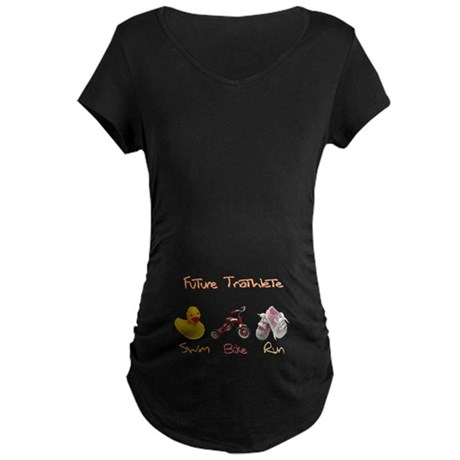Future Girl Triathlete Maternity Dark T-Shirt