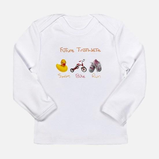 Future Girl Triathlete Long Sleeve Infant T-Shirt