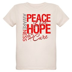 Blood Cancer PeaceLoveHope T-Shirt