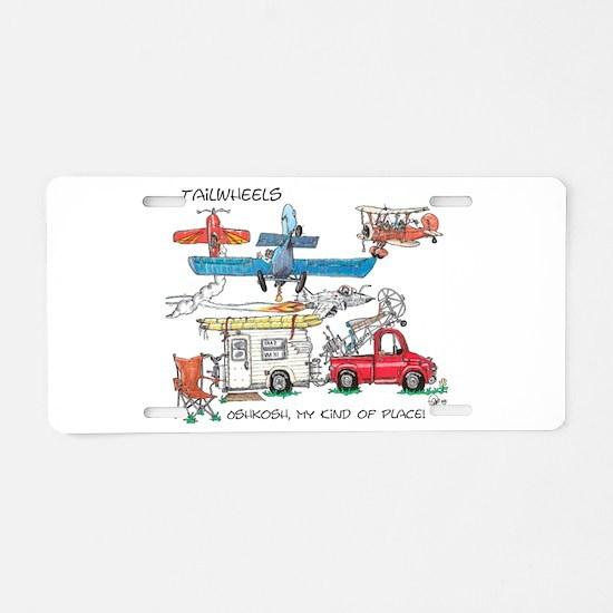 Oshkosh, My Kind of Place Aluminum License Plate