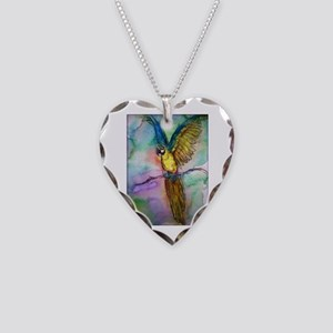 parrot, Colorful, Macaw, Necklace Heart Charm