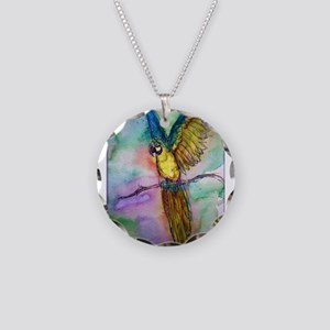 parrot, Colorful, Macaw, Necklace Circle Charm