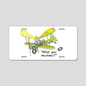 Who's Your Mechanic? Aluminum License Plate