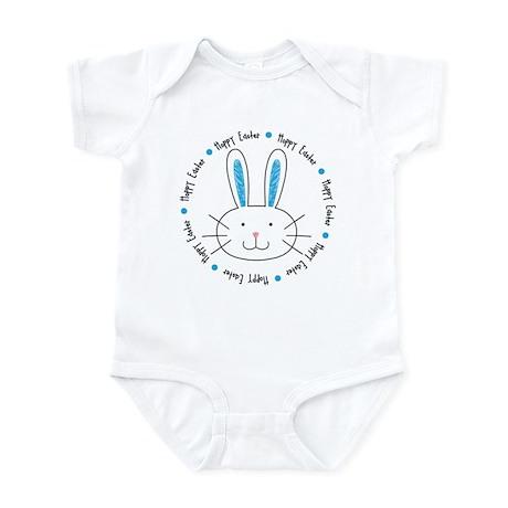 Hoppy Easter Bunny boy Infant Bodysuit