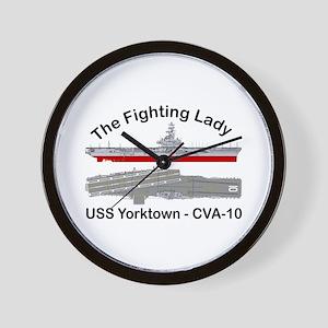 USS Yorktown CVA-10 Wall Clock