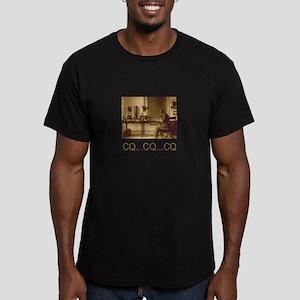 CQ...CQ...CQ Men's Fitted T-Shirt (dark)